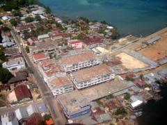 Pemandangan kota Saumlaki dari udara
