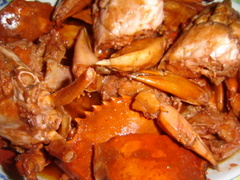Crab with souce