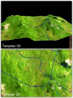 Batas Wilayah dalam 3D dan 2D
