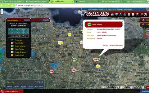 Informasi publik di dalam jangkauan Radar Cuaca