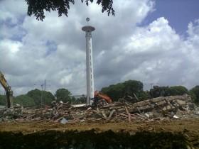 Merehabilitasi total Masjid Taqwa Metro (foto: Tribun Lampung)