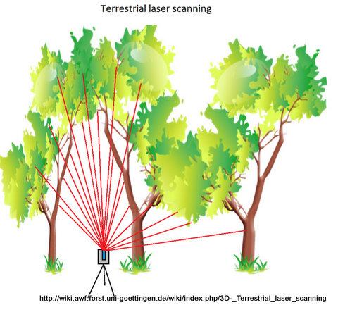 Pemindaian oleh 3D Terrestrial Laswer Scanning.