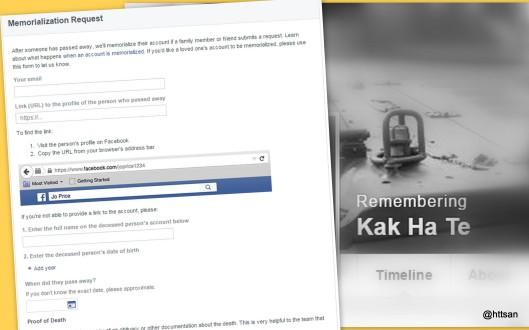 Mengabadikan akun Facebook